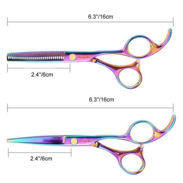 PrettySee 5 in 1 Hair Cutting Scissors Set Barber Shears Kit Storage - PrettySee Beauty & Personal Care | Professional, High Quality | PrettySee