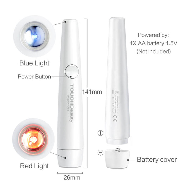 PrettySee Acne Clearing Treatment Pen Red Blue Light Therapy Acne Spot - PrettySee Beauty & Personal Care | Professional, High Quality | PrettySee