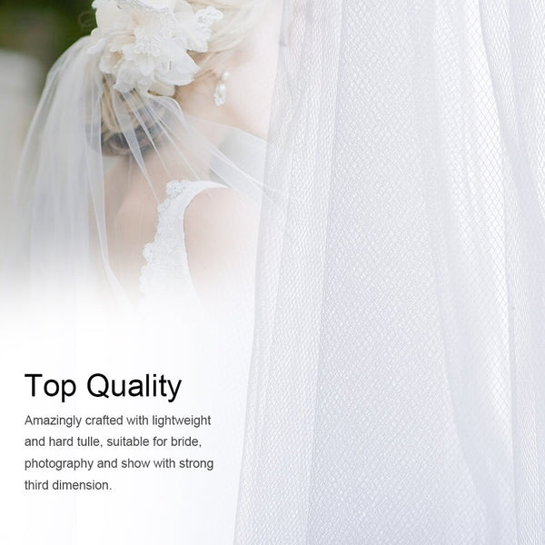 PrettySee Cascade Bridal Wedding Veil Inserted Tulle Veils - PrettySee Beauty & Personal Care | Professional, High Quality | PrettySee