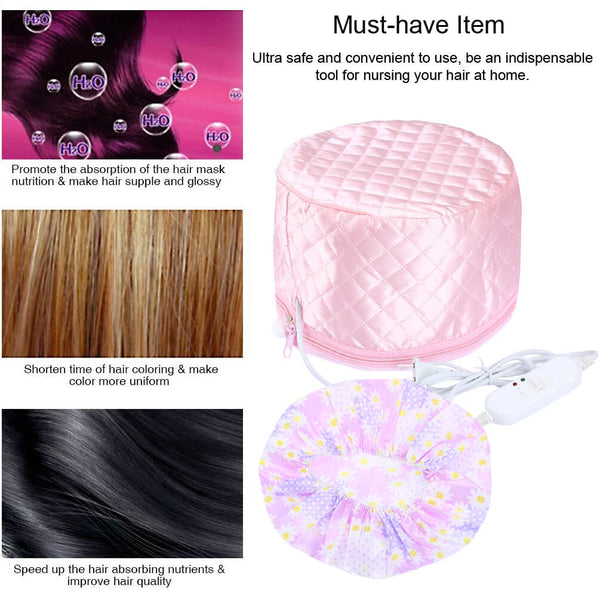 PrettySee Multi-functional Hair Steamer Cap Practical Beauty Steamer, 3 Mode Temperature Control, Pink - PrettySee Beauty & Personal Care | Professional, High Quality | PrettySee