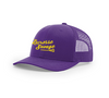 LACROSSE SAVAGE | RICHARDSON 112 Trucker Snapback Hat | Purple LS Script Gold - Lacrosse Savage