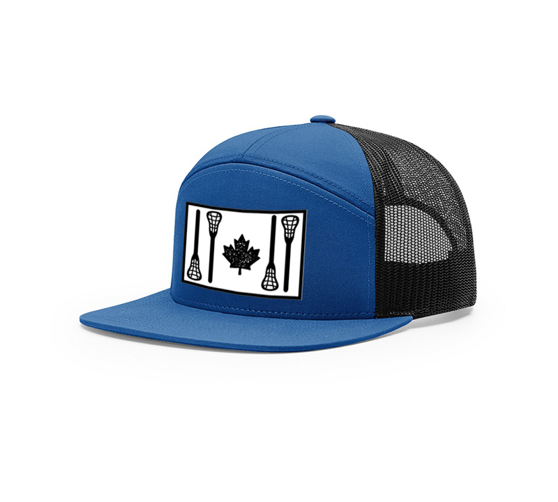 LACROSSE SAVAGE | RICHARDSON 168-7 Panel Trucker Hat w STICK FLAG | 4 Colours - Lacrosse Savage