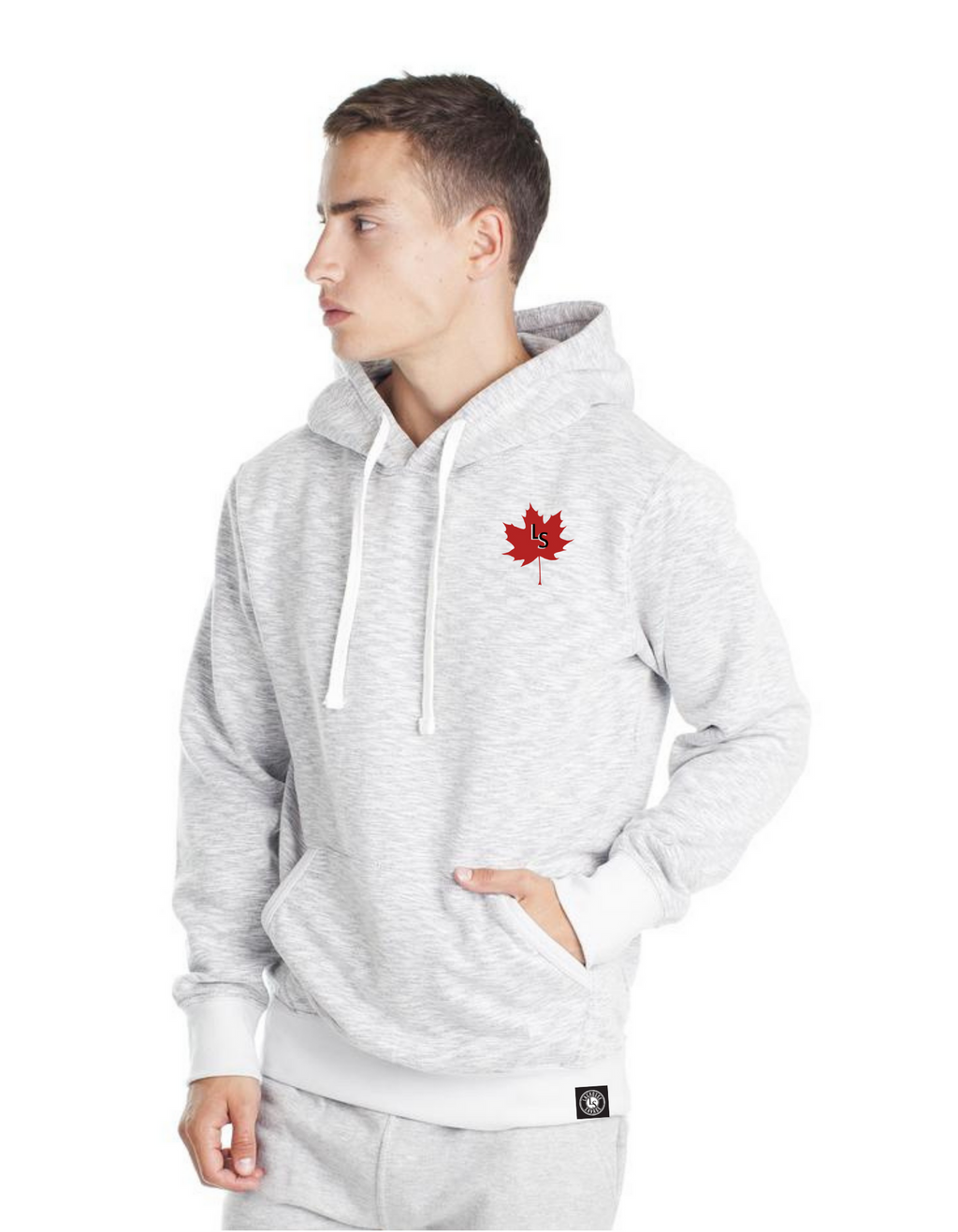 LS Maple Leaf French Terry Hooded Sweater | MRT900 - Lacrosse Savage