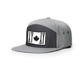 LACROSSE SAVAGE | RICHARDSON 257-7 Panel Twill Strapback w STICK FLAG | 2 Colours - Lacrosse Savage