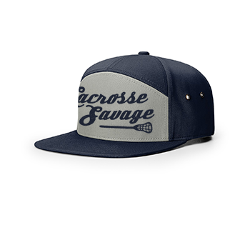 LACROSSE SAVAGE | RICHARDSON 257-7 Panel Twill Strapback w SCRIPT | 2 Colours - Lacrosse Savage
