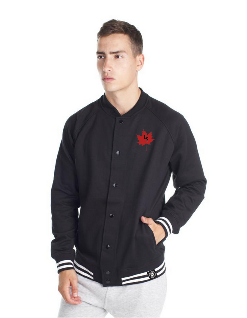 LS Maple Leaf Men's Varsity Jacket | M888 - Lacrosse Savage