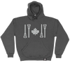 CLASSIC MID WEIGHT HOODIES | STICK FLAG LOGO - Lacrosse Savage