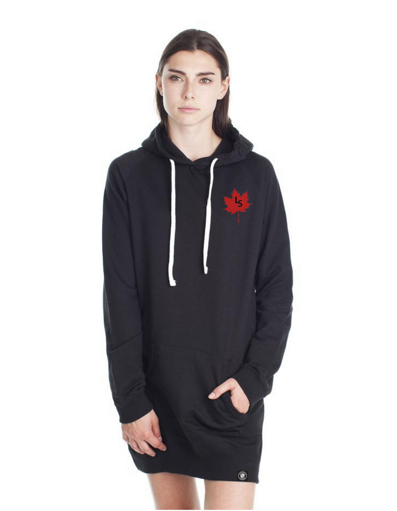 LS Maple Leaf Ladies Lacrosse Sweater Dress - Lacrosse Savage