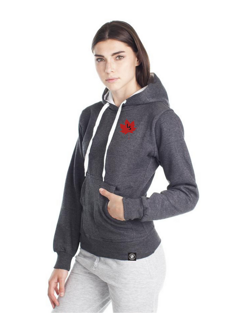 Ladies LS Maple Leaf Pullover Lacrosse Hoodie | L901 - Lacrosse Savage