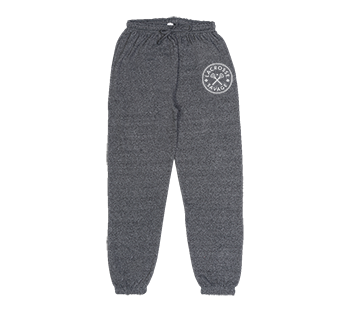 DELUXE HEAVY WEIGHT MARLED SWEAT PANTS | CIRCLE CANADA LOGO | 3 COLOUR CHOICES - Lacrosse Savage