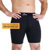 JOCKSTER |  COMPRESSION SHORTS | BUILT IN JOCKSTRAP | BLACK - Lacrosse Savage