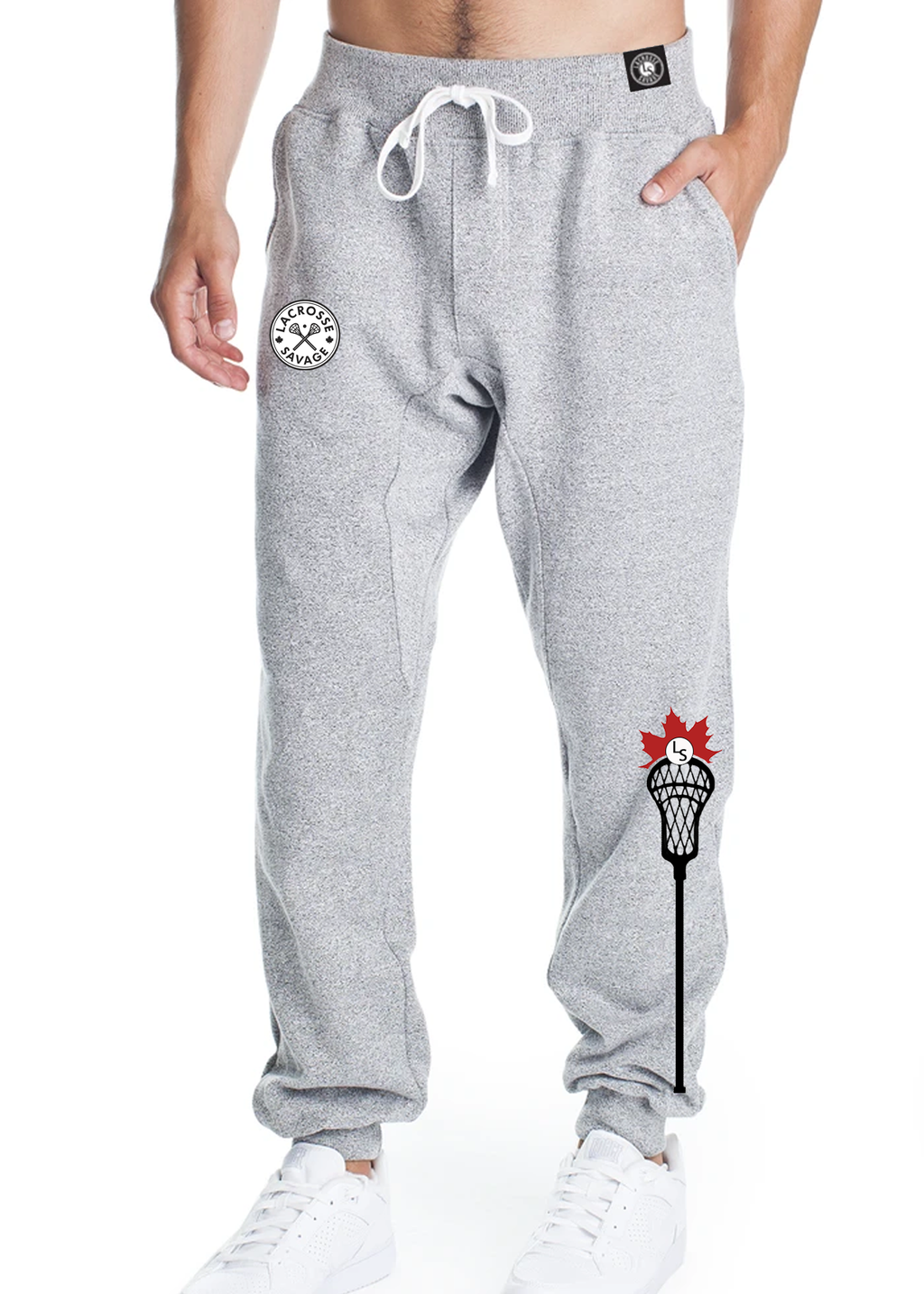 Mens LS Fitted Trackpant - Lacrosse Savage