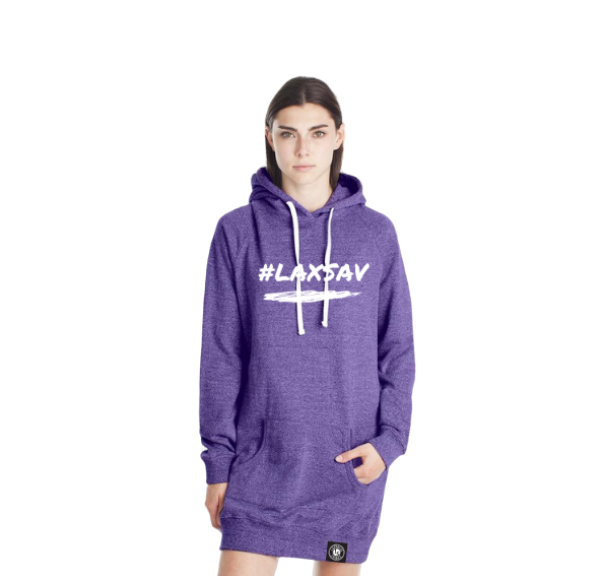 #LAXSAV Ladies Long Hoodie - Lacrosse Savage