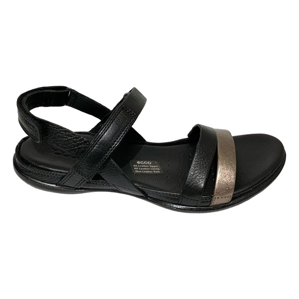 ECCO Flash 2 Strap Stone/Metallic Black
