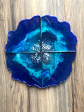 Blue Agate Inspired Coasters