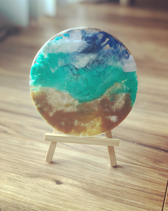 Mini Petri Dish Art - Beach