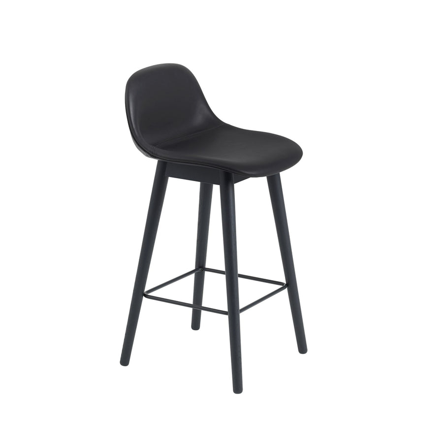 Fiber Bar Stool Wood Base