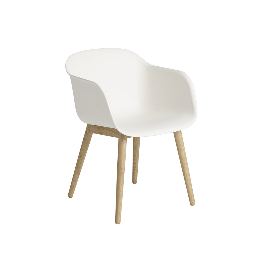 Fiber Armchair Wood Base