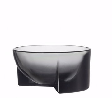 Kuru Bowl Glass 13cm Grey