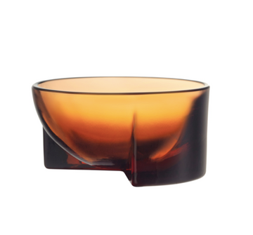 Kuru Bowl Glass 13cm Seville Orange