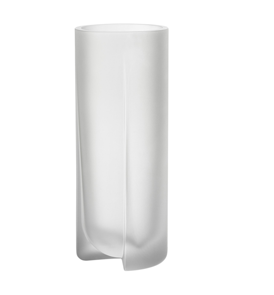 Kuru Vase Frosted 25cm Clear