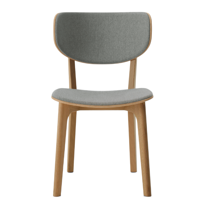 Roundish Upholstered Chair