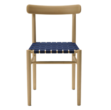 Lightwood Armless Chair -  Webbing Steat