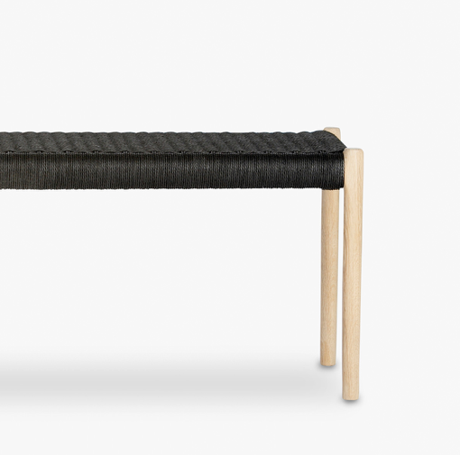 Møller Bench Soaped Oak, Black Paper Cord #63