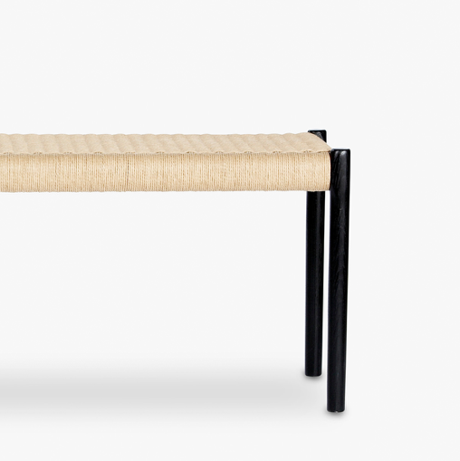 Møller Bench Stained Black Oak, Natural Paper Cord #63