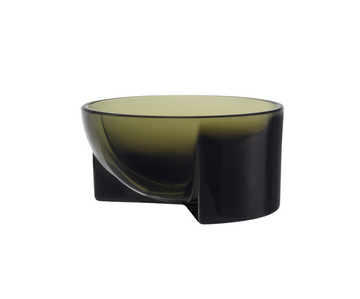 Kuru Bowl Glass 13cm Moss Green