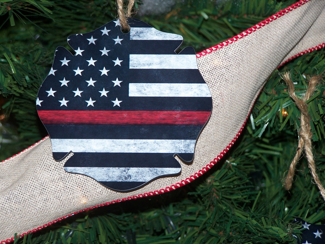 Thin Red Line, Christmas Ornament, Maltese Cross