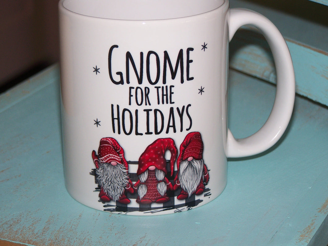 Gnome for the Holidays, 11 oz Coffee Mug
