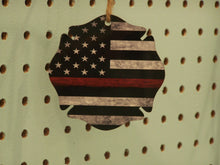 Load image into Gallery viewer, Thin Red Line, Christmas Ornament, Maltese Cross