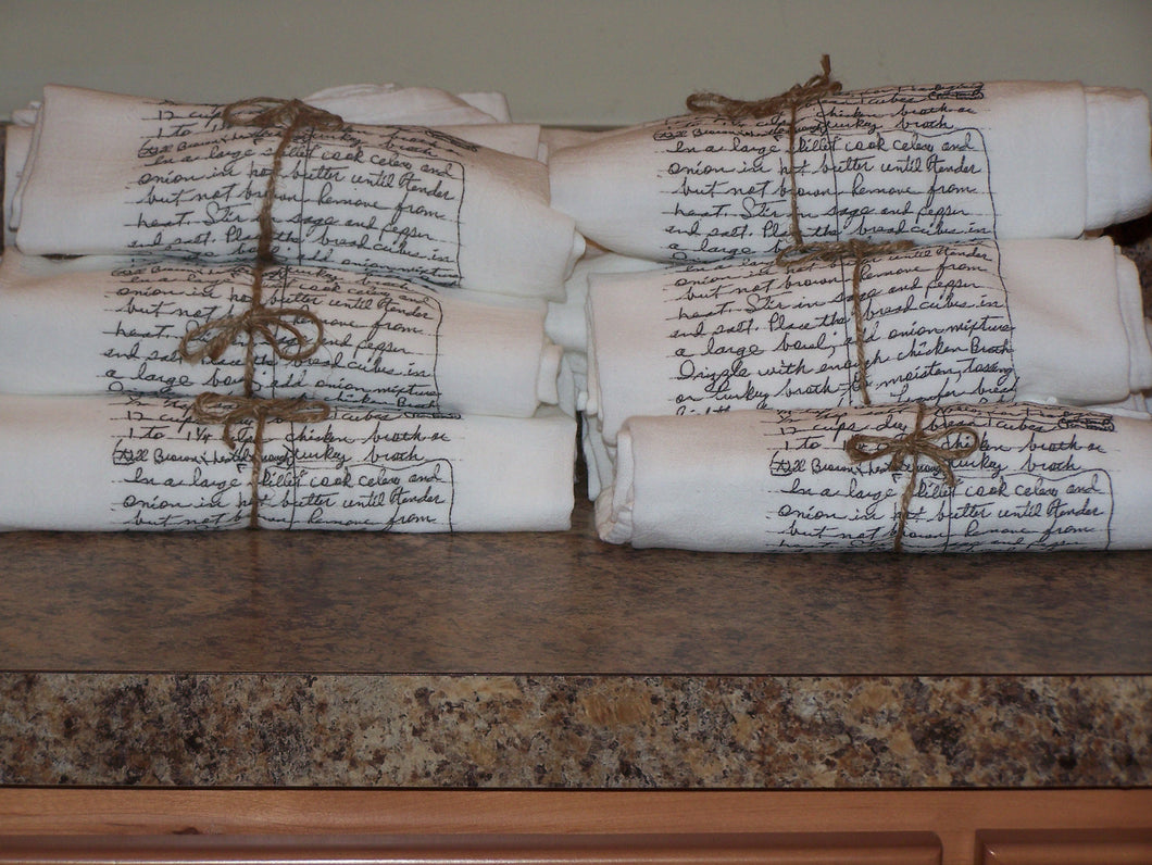 Recipe Flour Sack Towels