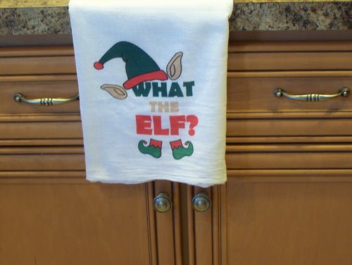 What the Elf Flour Sack Towel