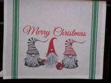 Load image into Gallery viewer, Merry Christmas Gnome, Striped Kitchen Towel