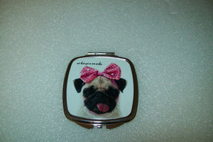 Personalized Compact Mirror, Personalized Bridesmaid Gift