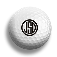 Golf ball Monogram