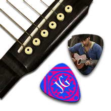 Load image into Gallery viewer, Double sided guitar picks, Personalized Guitar Pick, Custom Guitar Pick, Photo Guitar Pick