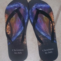 Personalized flip flops- Adult 10mm (SM)