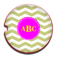 Monogram car coaster
