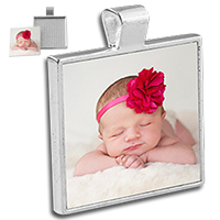Load image into Gallery viewer, Square  Bezel Jewelry Pendant