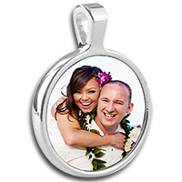 Load image into Gallery viewer, Round Bezel Jewelry Pendant