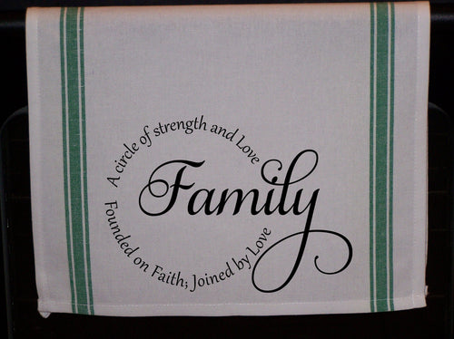 Family, Striped Kitchen Towel