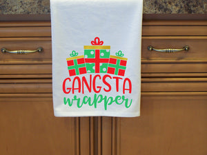 Gangsta Wrapper Kitchen Towel