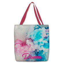 Load image into Gallery viewer, Personalized Tote Bag 14x16 with Colored Handles