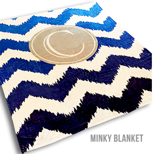 50x60 Personalized Minky Baby Blanket
