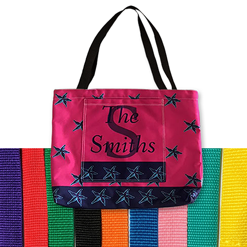Personalized Beach Bag Pocket Tote