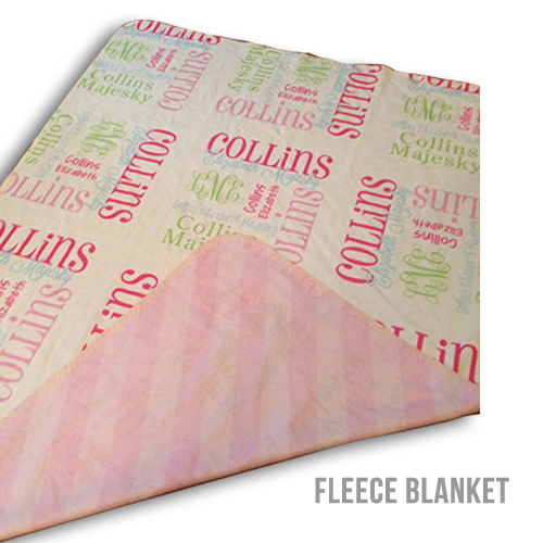 29x39 Personalized Fleece Baby Blanket double sided