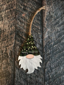 Gnome Shaped Christmas Ornament